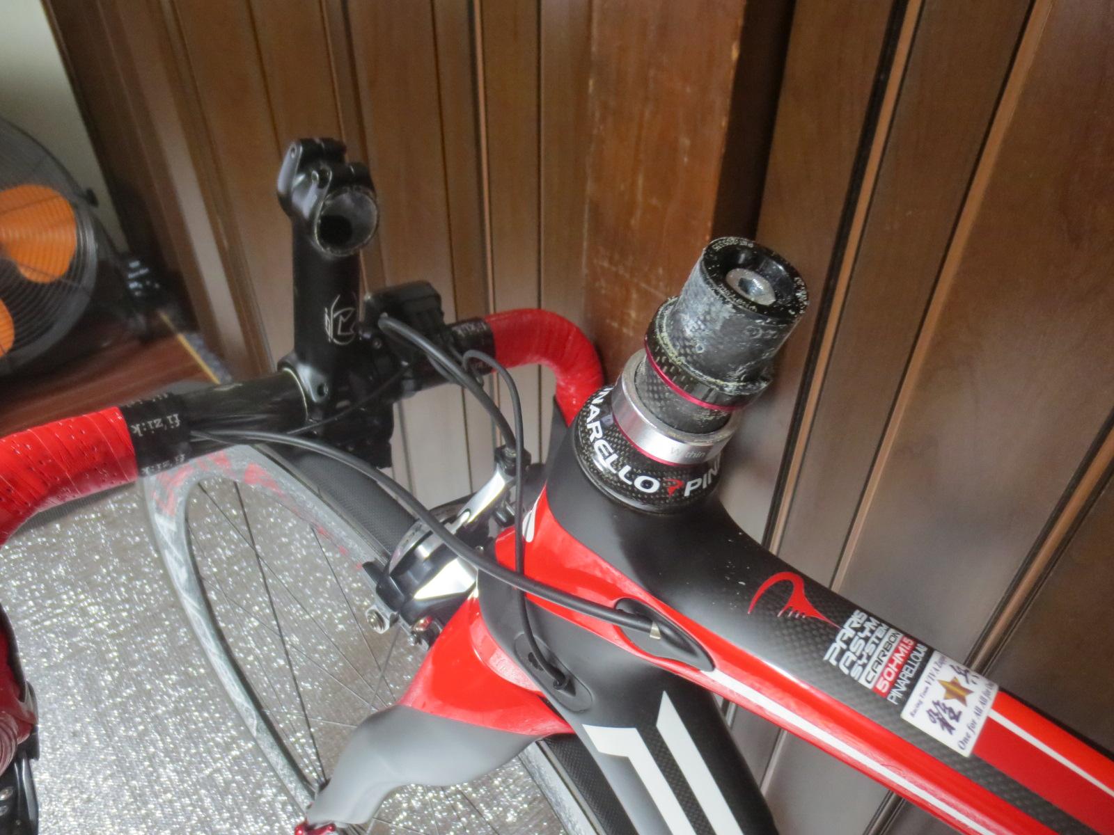 ロードバイクのヘッドパーツメンテナンス